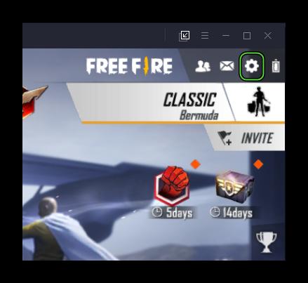 Вызов меню в Free Fire